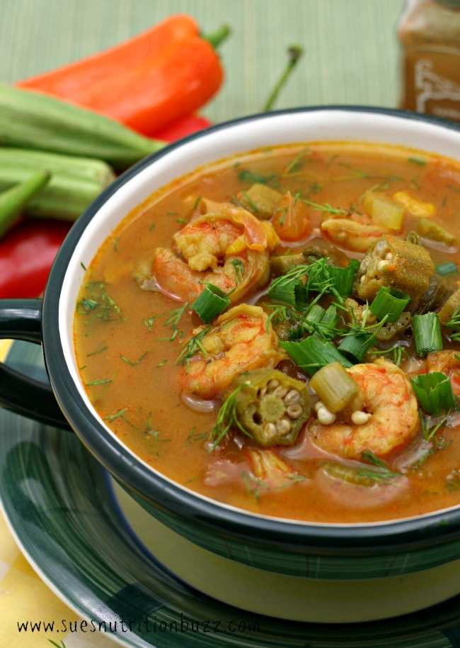Okra Shrimp Gumbo With Coconut Oil #SundaySupper